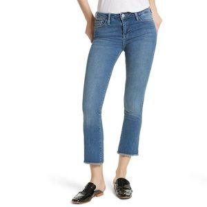 Free People High Waist Crop Straight Leg Jeans